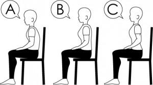 モテる姿勢の座り方事例