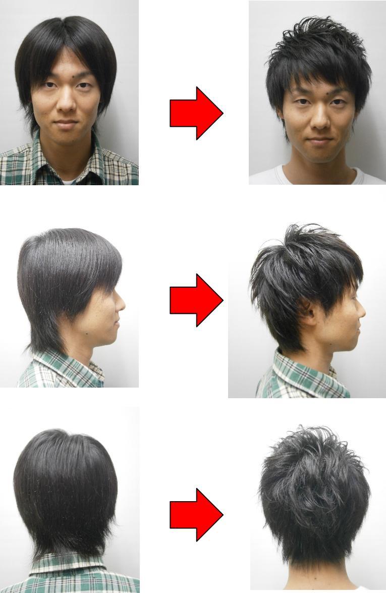 モテるメンズ髪型の男性の変化事例1つ目