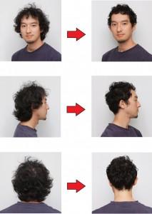 モテるメンズ髪型の男性の変化事例2つ目